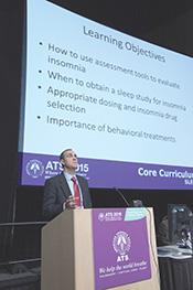 Ian Weir, DO, speaks at a Sleep Medicine Clinical Care presentation.