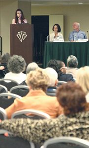 Experts share information with patients and their families during the Public Advisory Roundtable Forum on Saturday.